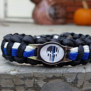 Jewelry - Punisher Police Paracord Bracelet
